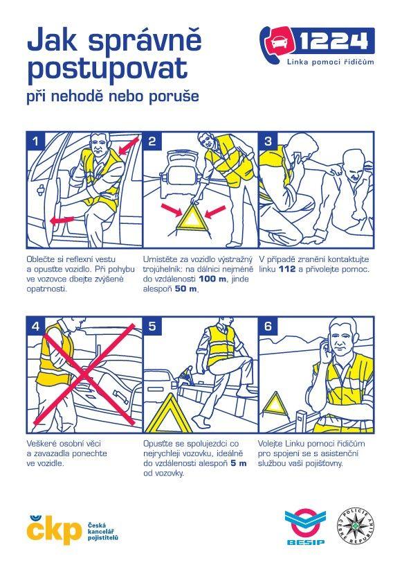 Bezpečnostní karta 1224. jak postupovat při dopravní nehodě